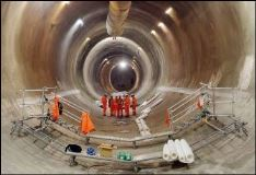 Crossrail tunnel under construction