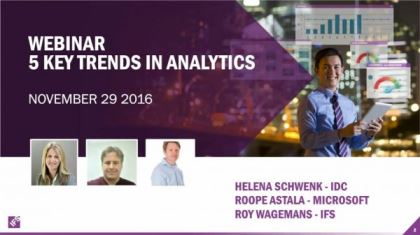 Watch On Demand - 5 Key Trends in Analytics