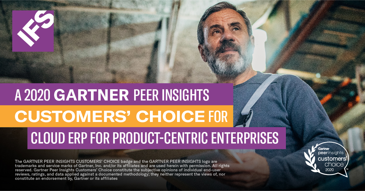 IFS Gartner Customers' Choice