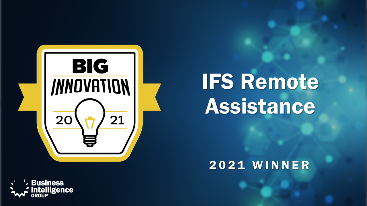 IFS Remote Assistance Big Innovation Award Winner