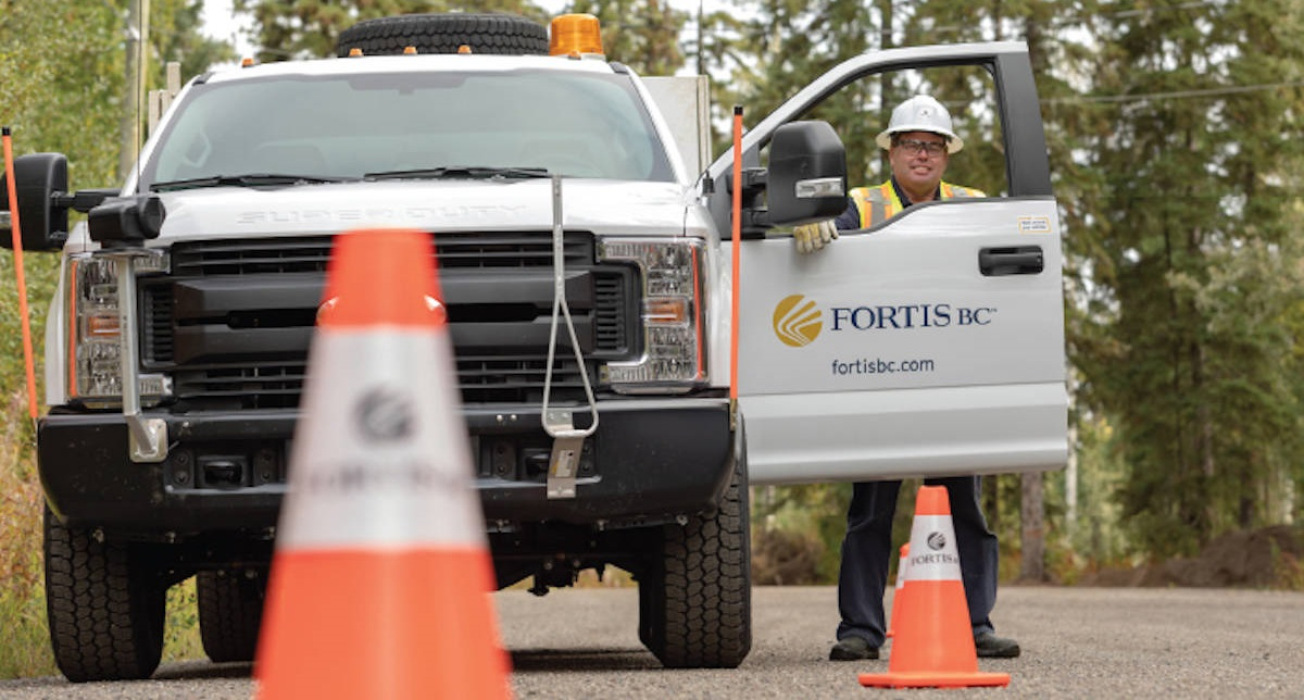 FortisBC truck and worker